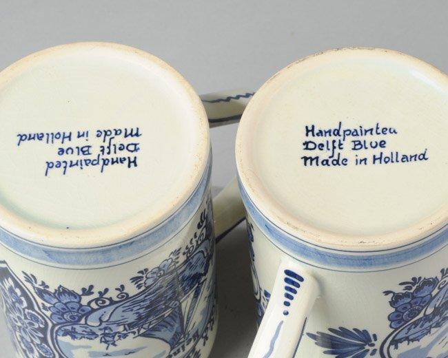 Two Hand Painted Delftware Heineken Beer Mugs - 4