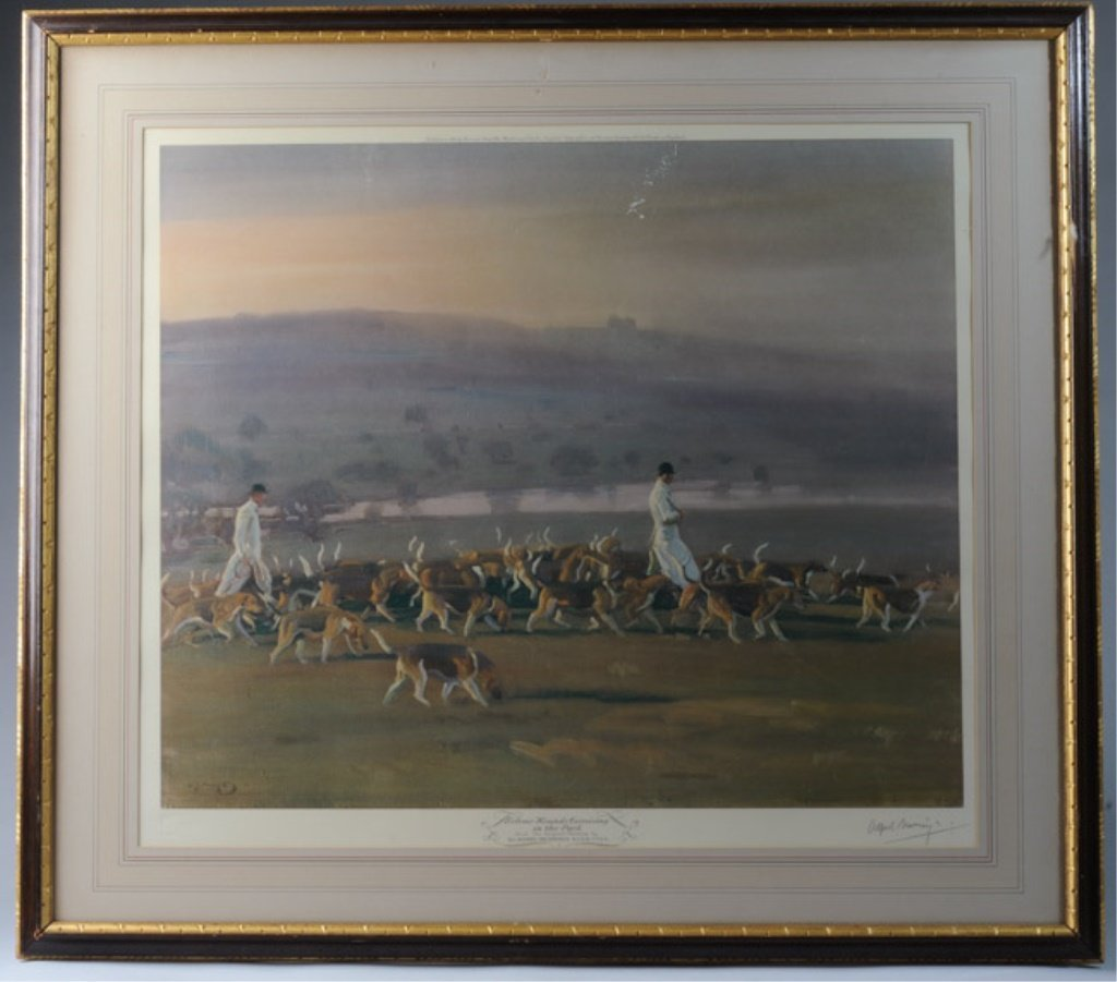 Sir Alfred Munnings (1878-1959) Photolithograph