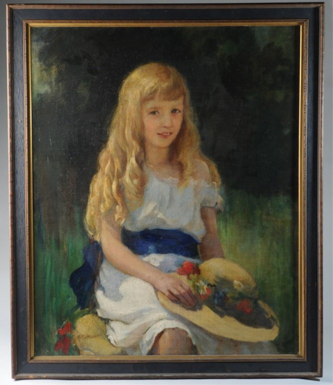 Edith Margaret Leeson(born 1881) Oil on Canvas