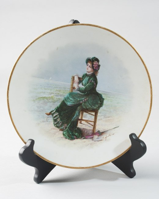 Hand Painted Victorian Plate