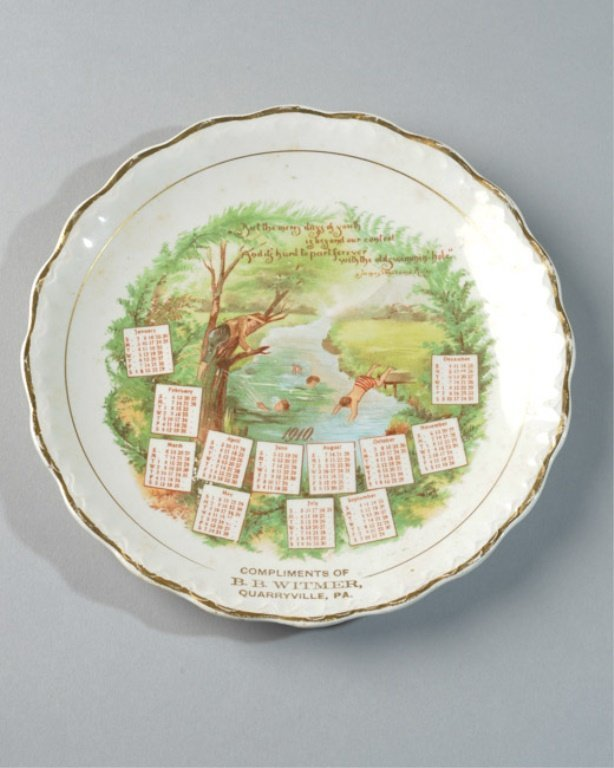 1910 Quarryville, PA Calendar Plate