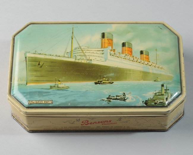 Queen Mary Ocean Liner Candy Tin