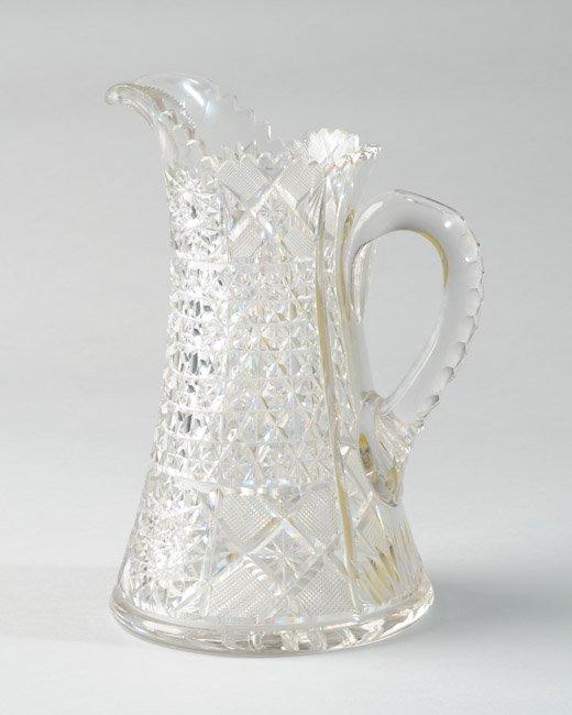 Cut Glass Pitcher, Brilliant Period, Russian Cut