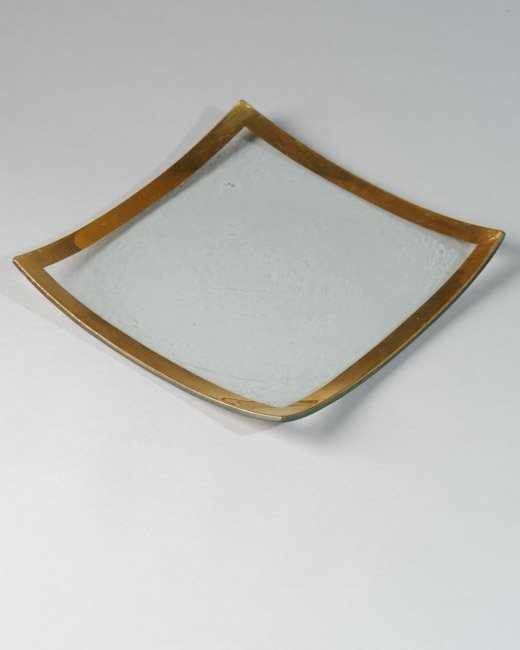 Annieglass Roman Antique-Gold Square Plate