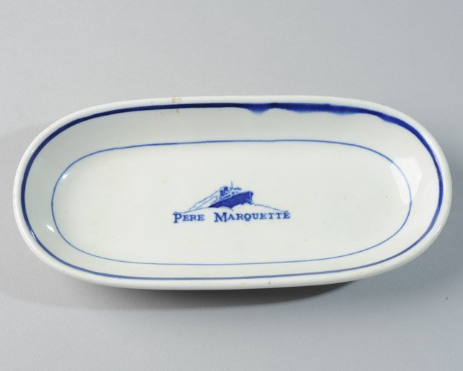 Buffalo China Pere Marquette Ocean Liner Oval Bowl