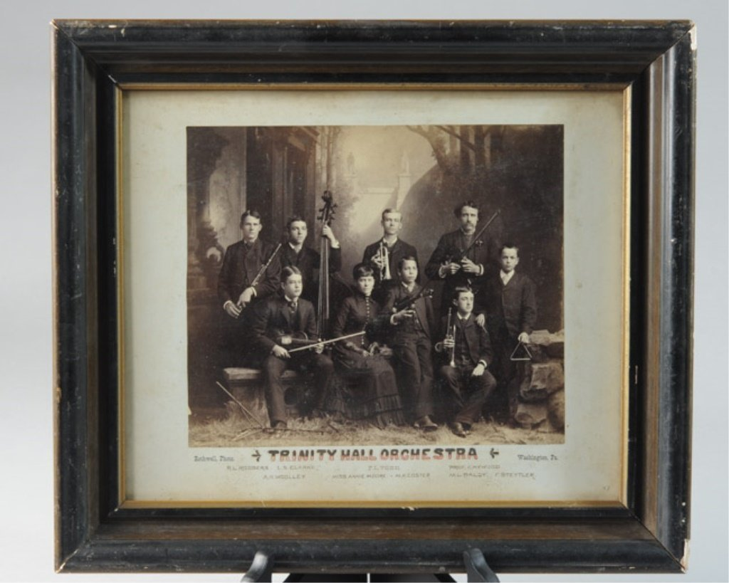 """Early Photographic Print """"Trinity Hall Orchestra"""""""