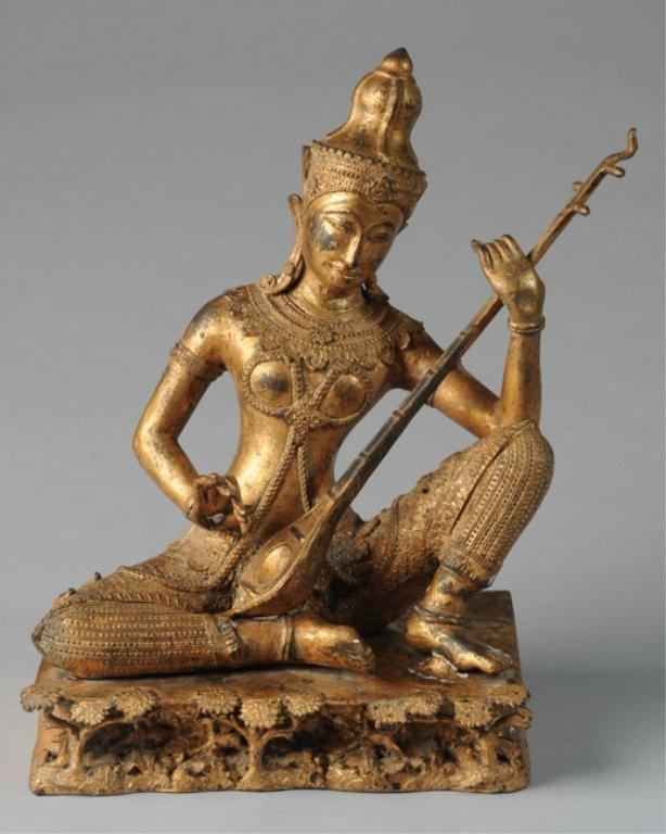 Antique Gilt Rattanakosin Thai Buddha