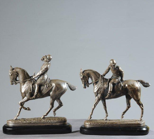John Willis Good (1845-1879) Silvered Bronze Pair