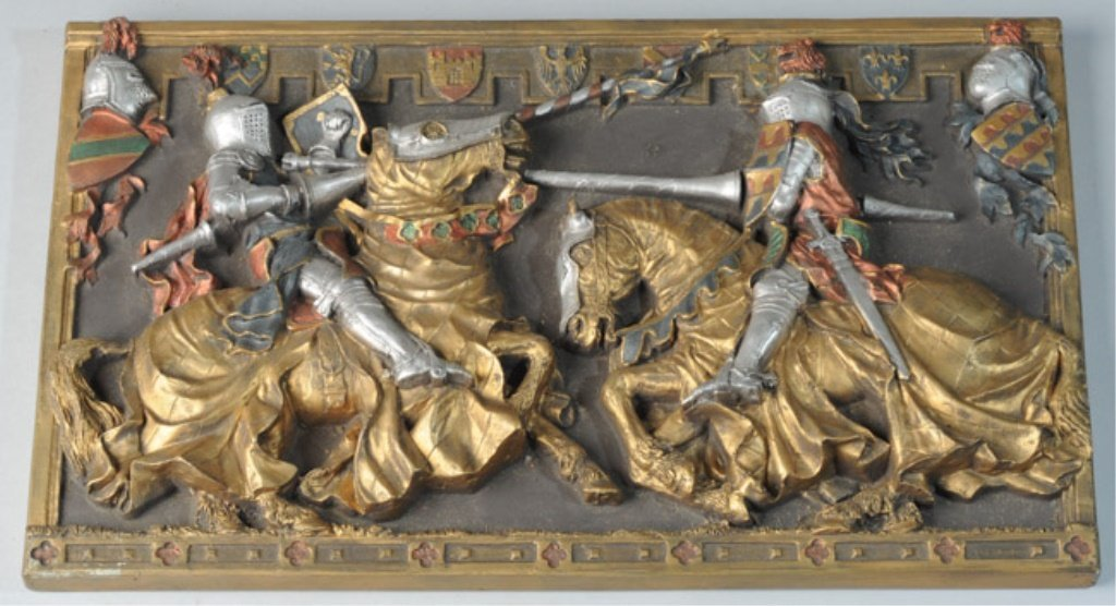 Marcus Designs Jousting Knights Plaque