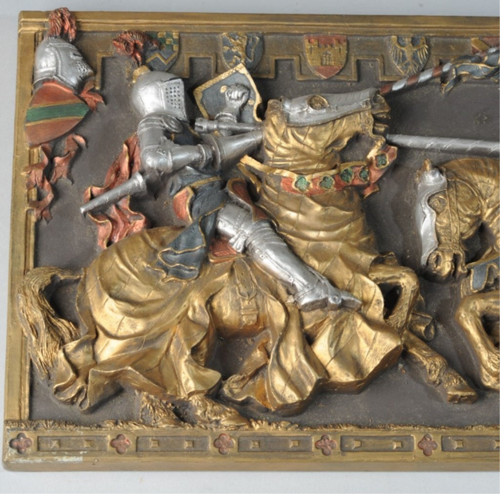 Marcus Designs Jousting Knights Plaque - 3