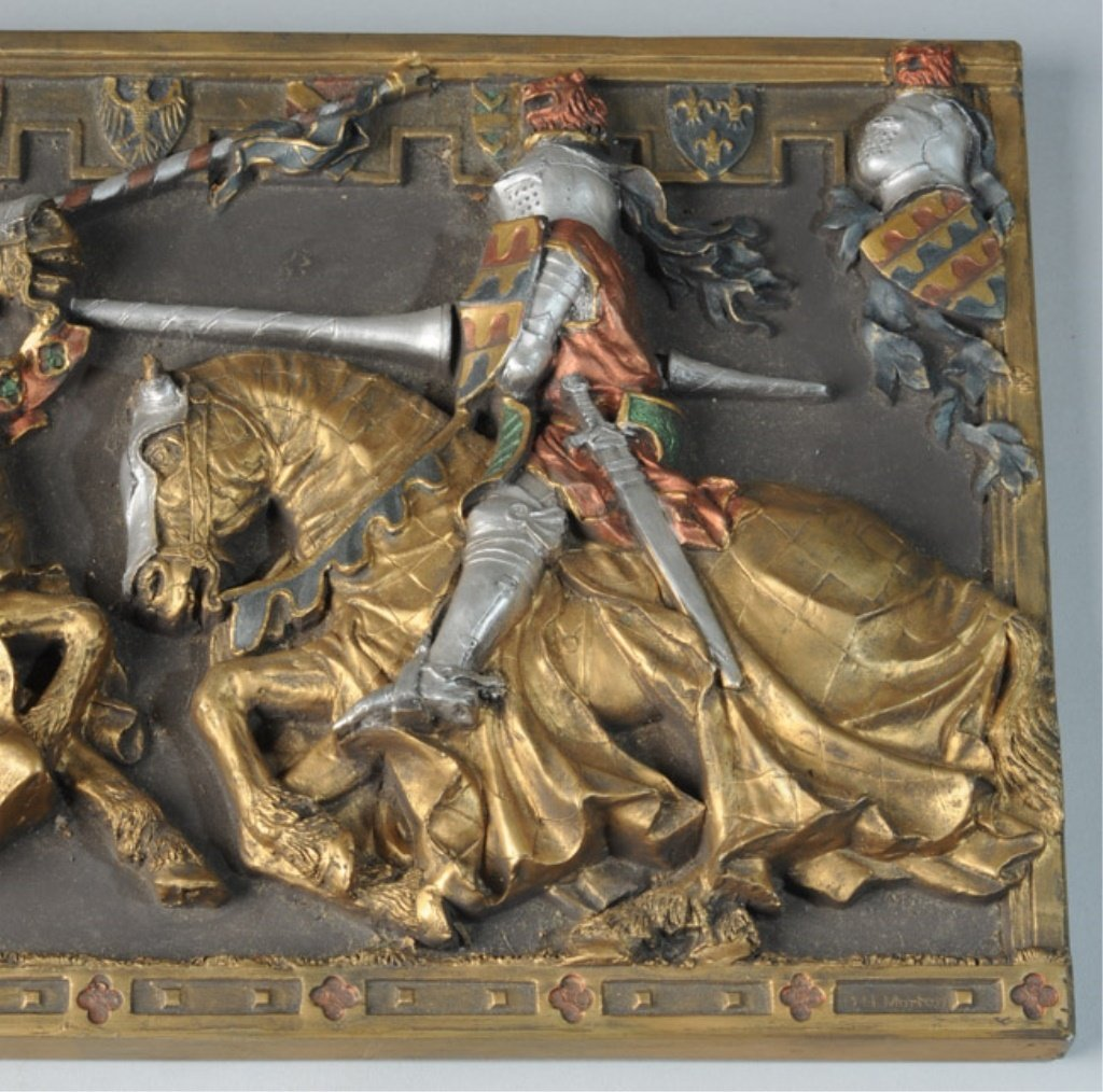 Marcus Designs Jousting Knights Plaque - 4
