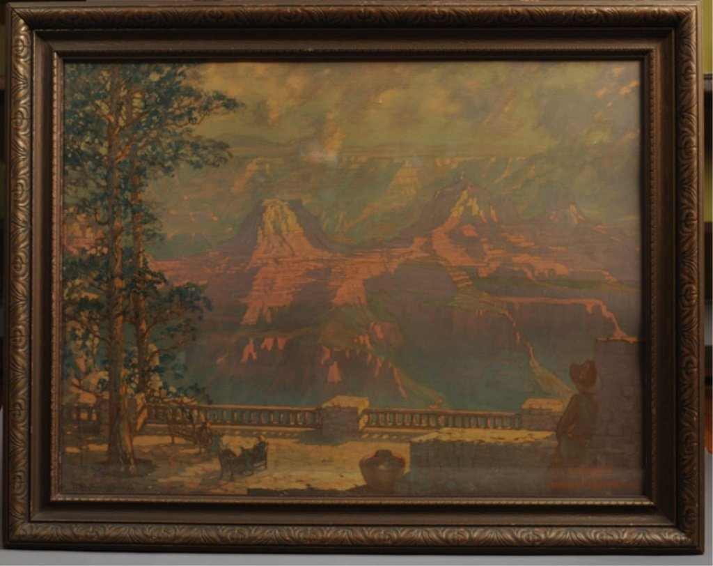 Orig. RR Poster Union Pacific Grand Canyon Lodge