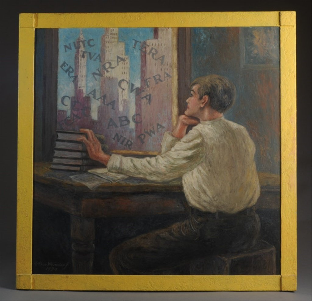 Arthur Weindorf (1885-1979) Signed Oil on Board