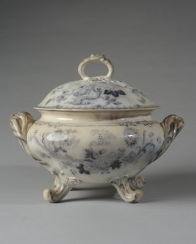 19th C. Ironstone Lidded Tureen