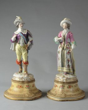 Pair Of 19th C. Continental Figures