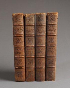 "Antique ""the Poetical Works Of John Milton"" 4 Vol."