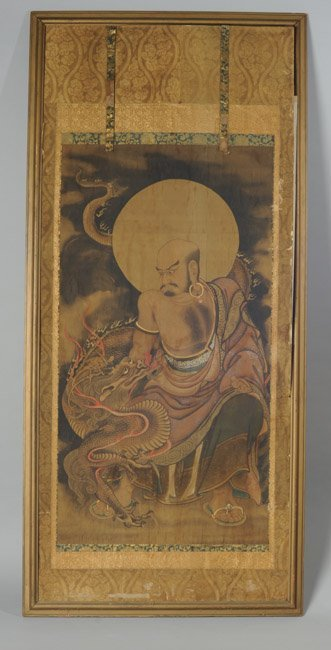 Chinese Buddhist Painting of Arhat Xianglong