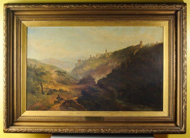 James Baker Pyne (1800-1870) Oil on Canvas, Tivoli