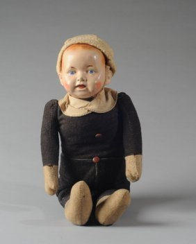 Early Composition Head Doll