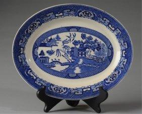 Vintage Homer Laughlin Blue Willow Oval Platter