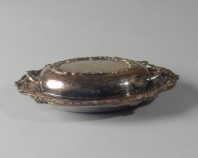 Victorian Silverplate Covered Vegetable Dish