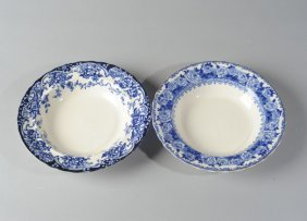 Two Antique English Late Mayers Shallow Bowls