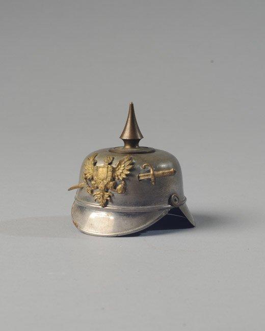 Rare German WWI Metal Helmet Inkwell