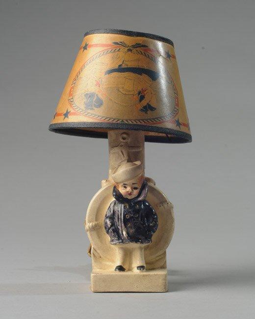1940s China Navy Boy Night Lamp