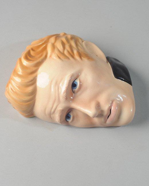 James Dean Glazed Clay Head