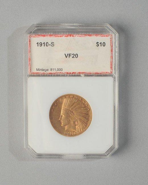 1910 S US 10 Dollar Gold Piece