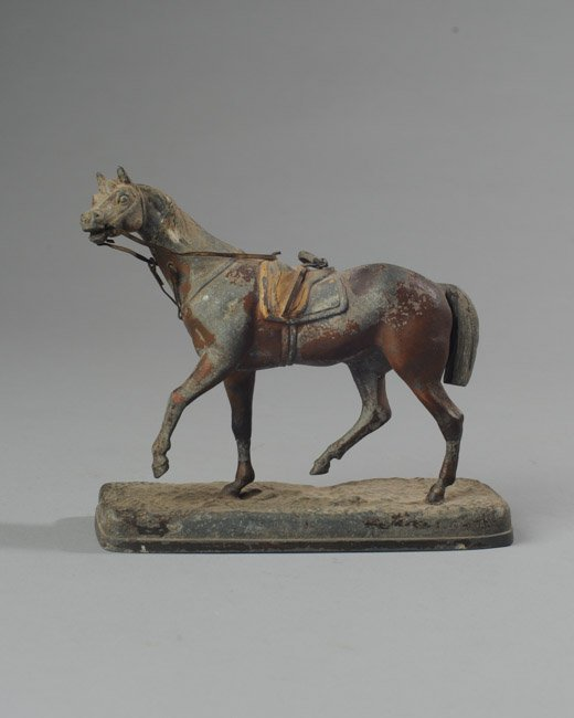 Metal Prancing Race Horse Figure