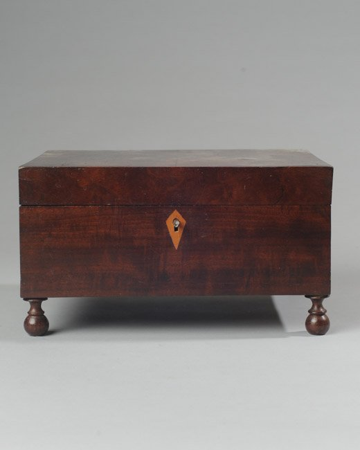 19th C. Mahogany Valuables Box