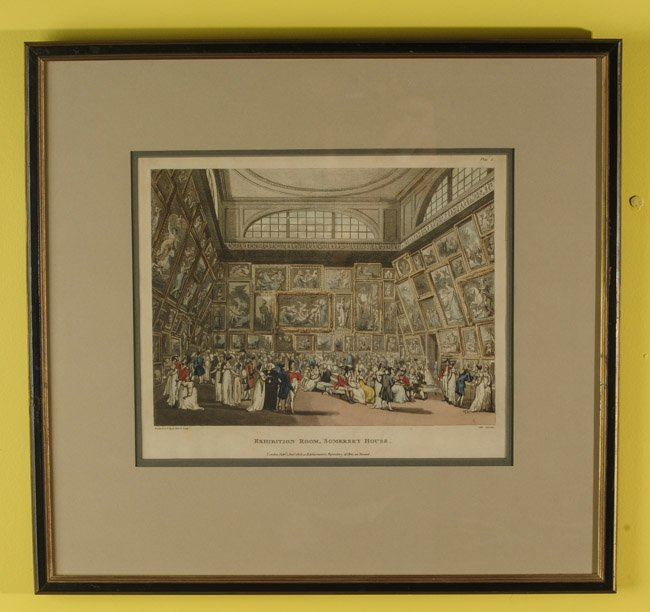 19th C. Lithograph Exhibition Room Summerset House