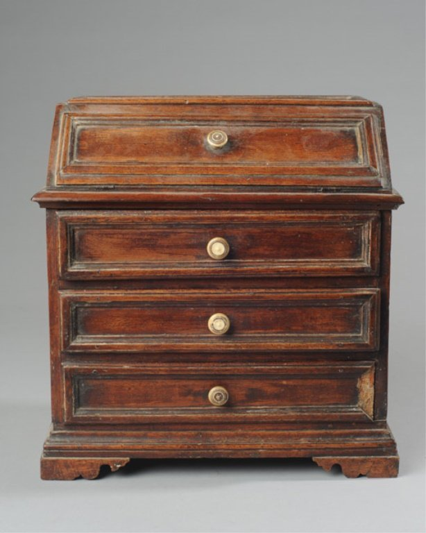 19th C. Miniature Slant Front Desk