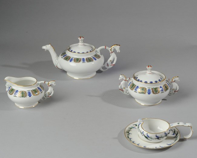 Russian Kornilov Porcelain Partial Tea Service