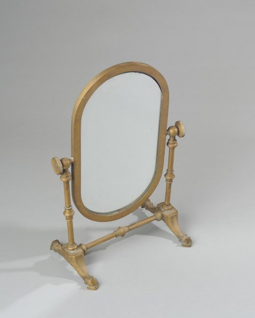 Early 20th C. Brass Dresser Mirror