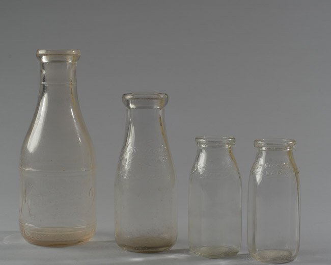 Four Monticello Dairy Milk Bottles