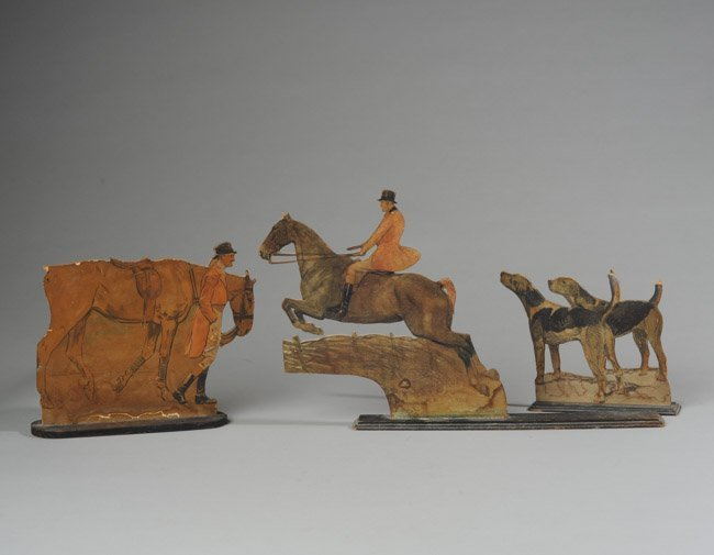 Three Hunt Theme Wooden Figures