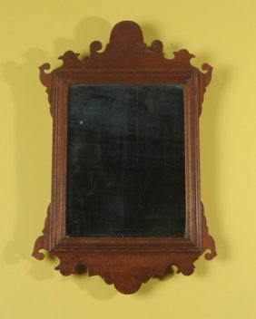 Walnut Chippendale Style Looking Glass