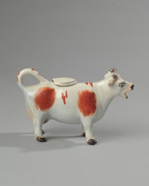 19th C. Staffordshire Cow Creamer