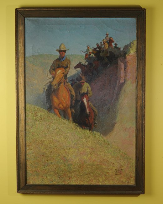 Robert Wesley Amick (1879-1969) Oil on Canvas