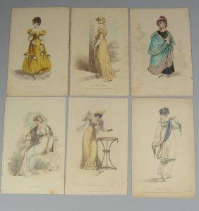 Six 19th C. Fashion Prints