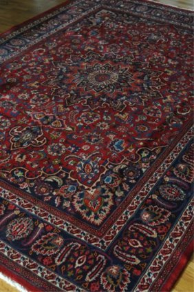 Hand Knotted Old Room Sized Persian