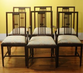 Set Of Six Federal Style Mahogany Dinning Chairs