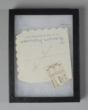 Count Basie Autograph And Ticket Stub