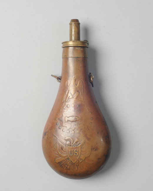 Civil War Era Brass U.S. Powder Flask