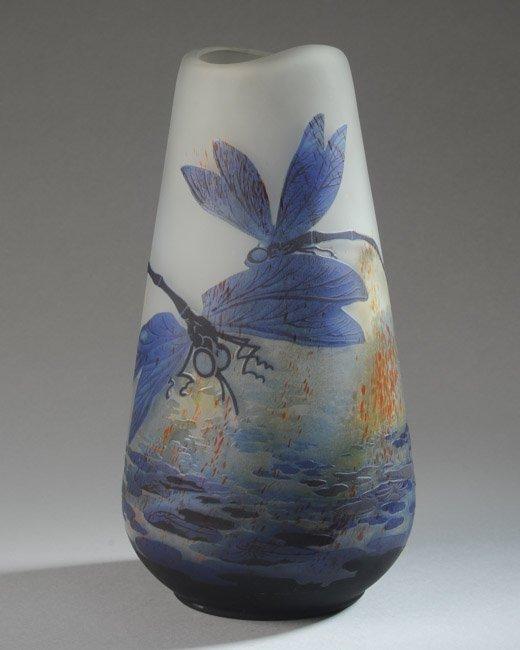 Lilly Schoufeld Cameo Glass Vase