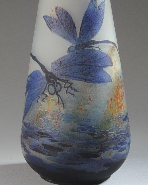 Lilly Schoufeld Cameo Glass Vase - 2