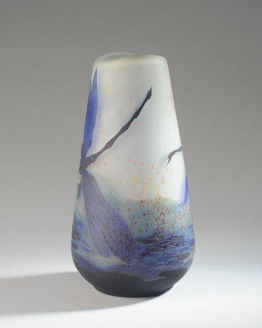 Lilly Schoufeld Cameo Glass Vase - 5