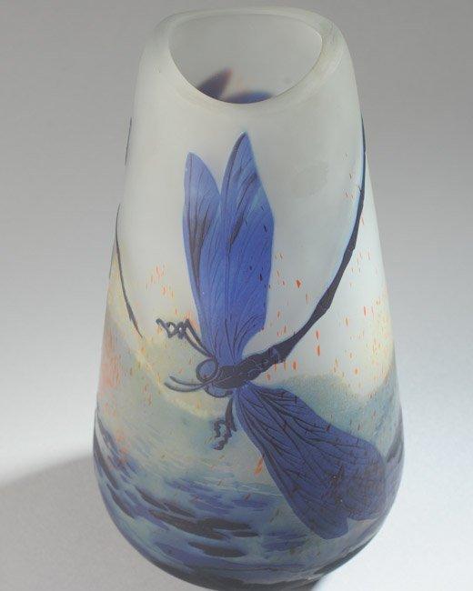 Lilly Schoufeld Cameo Glass Vase - 6